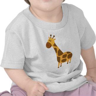 La jirafa personalizada embroma el regalo del camiseta