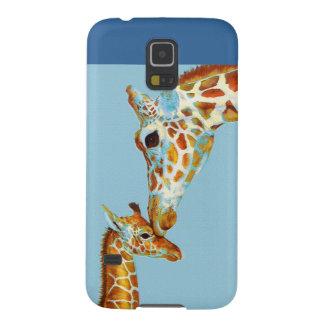 la jirafa Samsung de la madre llama por teléfono Funda Galaxy S5