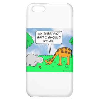 La jirafa se relaja