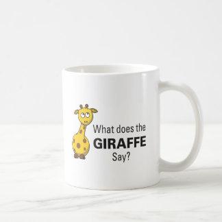 La jirafa traiciona la taza