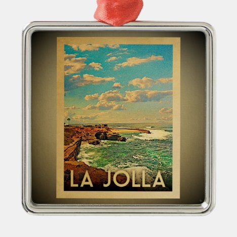 La Jolla California Ornament Vintage Travel