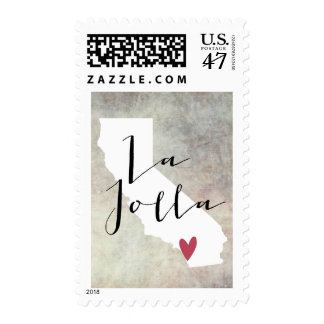 La Jolla, California Postage Stamp