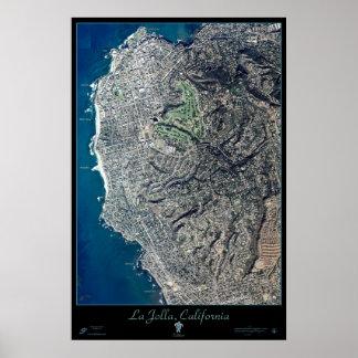 La Jolla, California satellite poster print map