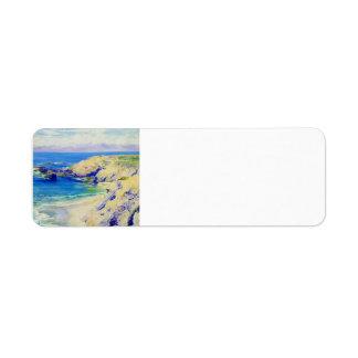 La Jolla Cove by Guy Rose Label