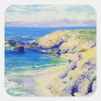 La Jolla Cove by Guy Rose Square Sticker