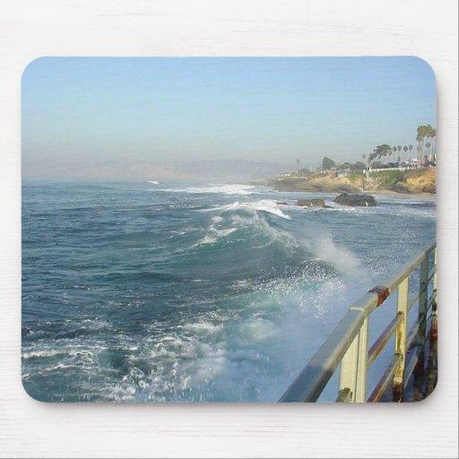 La Jolla Cove Ocean Beach Waves Mouse Pad