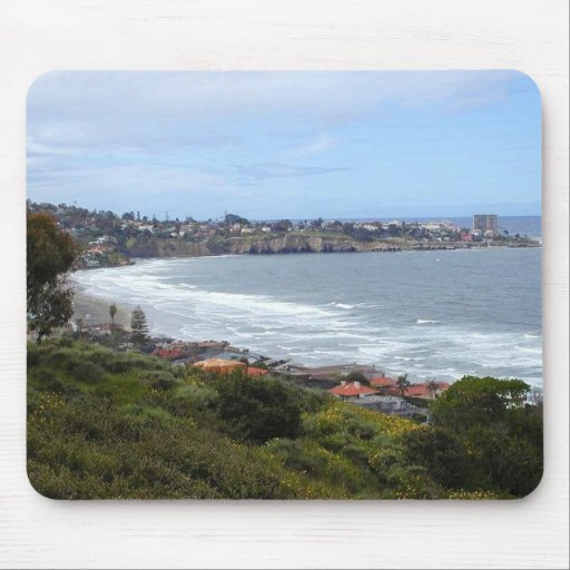 La Jolla Ocean Beach Cliffs Mouse Pads