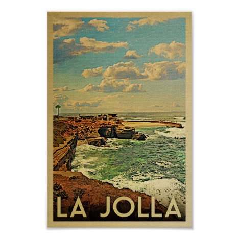 La Jolla Poster - California Vintage Travel Print
