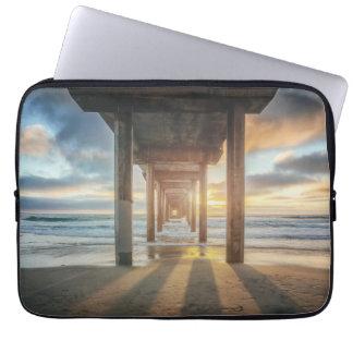 La Jolla, Scripps'S Pier At Sunset | San Diego Computer Sleeve