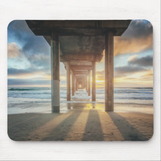 La Jolla, Scripps'S Pier At Sunset | San Diego Mouse Pad