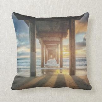 La Jolla, Scripps'S Pier At Sunset | San Diego Throw Pillow