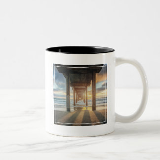 La Jolla, Scripps'S Pier At Sunset | San Diego Two-Tone Coffee Mug