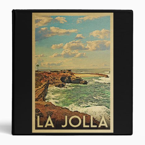 La Jolla Vintage Travel - California Coast 3 Ring Binder