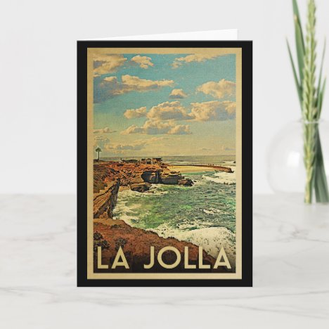 La Jolla Vintage Travel - California Coast Card