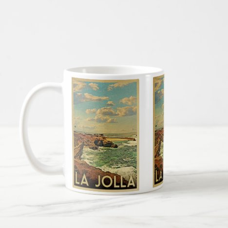 La Jolla Vintage Travel - California Coast Coffee Mug