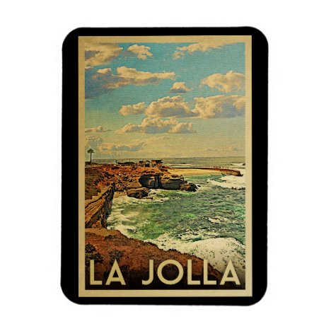 La Jolla Vintage Travel - California Coast Magnet