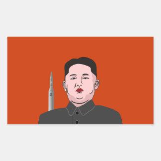 La Jong-O N U de Kim y misil nuclear Pegatina