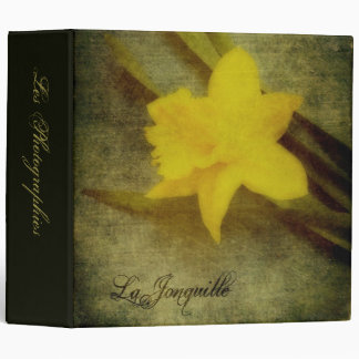 "La Jonquille 2"" Photo Album 3 Ring Binder"
