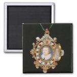 La joya de Gresley, con los retratos miniatura del Imán