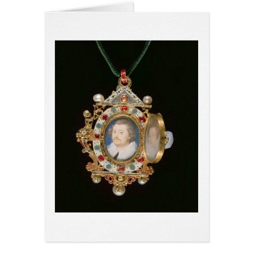 La joya de Gresley, con los retratos miniatura del Felicitacion