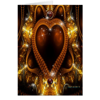La joya de la reina tarjeta de felicitación