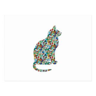 La joya DE LUJO n empiedra CAT tachonado - animal Postal