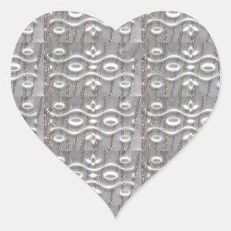 La joya de plata ata el arte NVN169 NavinJOSHI LUV Pegatina De Corazón