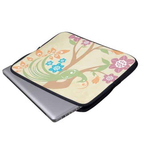 La joya elegante entonó la manga floral del ordena funda computadora