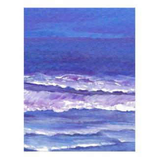 La joya entonó los regalos del paisaje marino de membrete a diseño