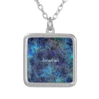 La joya rica profunda abstracta colorea el collar