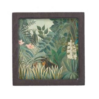 La Jungle ecuatorial, 1909 (aceite en lona) Caja De Joyas De Calidad