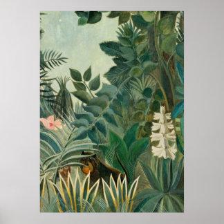 La Jungle ecuatorial, 1909 (aceite en lona) Póster