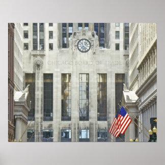 'La junta de comercio de Chicago, Chicago, Illinoi Póster
