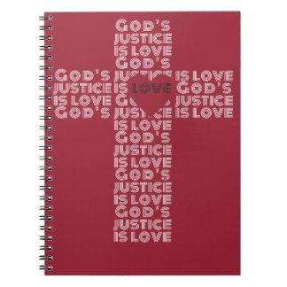 La justicia de dios es cuaderno del amor