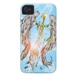 La justicia de la espada del ángel iPhone 4 fundas
