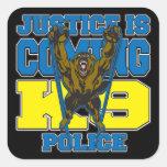 La justicia es la policía que viene K9 Colcomania Cuadrada