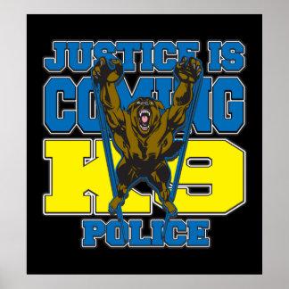 La justicia es la policía que viene K9 Póster