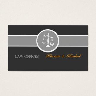 La justicia escala gris blanco negro tarjetas de visita