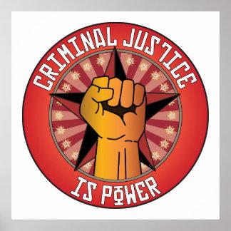 La justicia penal es poder posters