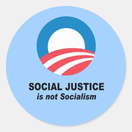La justicia social no es socialismo etiquetas redondas