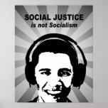 La justicia social no es socialismo poster