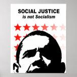 La justicia social no es socialismo posters