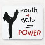 la juventud actúa poder alfombrilla de raton