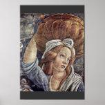 La juventud de Moses, detalle de Botticelli Sandro Impresiones