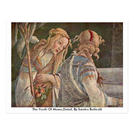 La juventud de Moses, detalle, por Sandro Botticel Tarjetas Postales