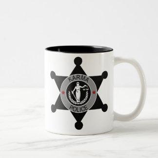 La Karma-Policía, arresta a este hombre… Taza De Café De Dos Colores
