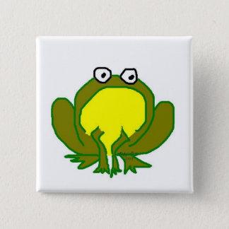 La Kermese Frog Pinback Button