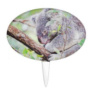 la koala pintada remolina la versión SM c.jpg Figuras Para Tartas