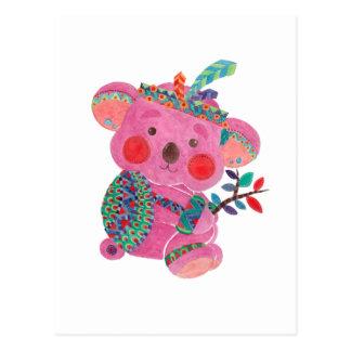 La koala rosada postal