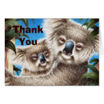 La koala y el bebé le agradecen tarjeta de nota